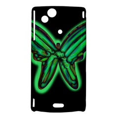 Green neon butterfly Sony Xperia Arc