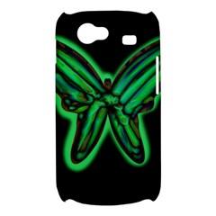 Green neon butterfly Samsung Galaxy Nexus S i9020 Hardshell Case