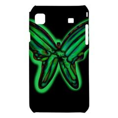 Green neon butterfly Samsung Galaxy S i9008 Hardshell Case