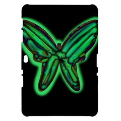 Green neon butterfly Samsung Galaxy Tab 10.1  P7500 Hardshell Case