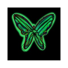 Green neon butterfly Acrylic Tangram Puzzle (6  x 6 )