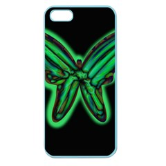 Green neon butterfly Apple Seamless iPhone 5 Case (Color)