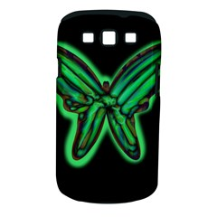 Green neon butterfly Samsung Galaxy S III Classic Hardshell Case (PC+Silicone)