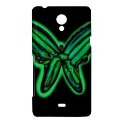 Green neon butterfly Sony Xperia T