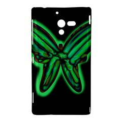 Green neon butterfly Sony Xperia ZL (L35H)