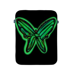 Green neon butterfly Apple iPad 2/3/4 Protective Soft Cases