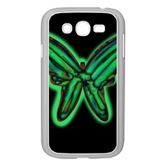 Green neon butterfly Samsung Galaxy Grand DUOS I9082 Case (White)