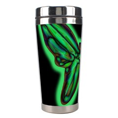 Green neon butterfly Stainless Steel Travel Tumblers