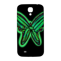 Green neon butterfly Samsung Galaxy S4 I9500/I9505  Hardshell Back Case