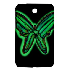 Green neon butterfly Samsung Galaxy Tab 3 (7 ) P3200 Hardshell Case