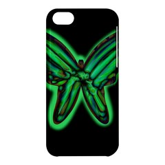 Green neon butterfly Apple iPhone 5C Hardshell Case