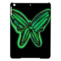Green Neon Butterfly Ipad Air Hardshell Cases