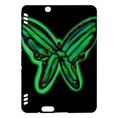 Green neon butterfly Kindle Fire HDX Hardshell Case