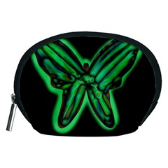 Green neon butterfly Accessory Pouches (Medium)