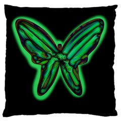 Green neon butterfly Standard Flano Cushion Case (Two Sides)