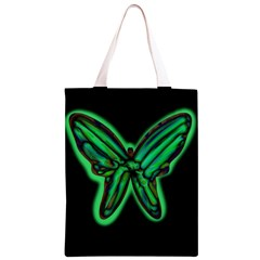 Green neon butterfly Classic Light Tote Bag