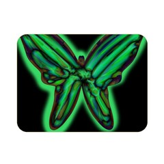 Green neon butterfly Double Sided Flano Blanket (Mini)