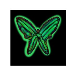 Green neon butterfly Small Satin Scarf (Square)