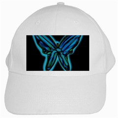 Blue butterfly White Cap
