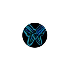 Blue butterfly 1  Mini Magnets