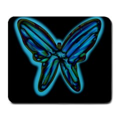 Blue butterfly Large Mousepads