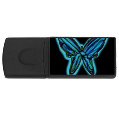 Blue butterfly USB Flash Drive Rectangular (2 GB)