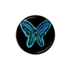 Blue butterfly Hat Clip Ball Marker