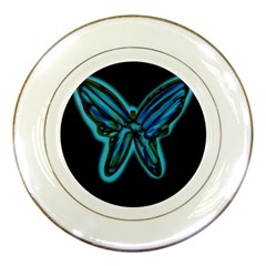 Blue butterfly Porcelain Plates