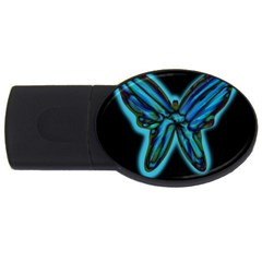 Blue butterfly USB Flash Drive Oval (4 GB)