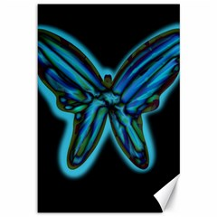 Blue butterfly Canvas 12  x 18