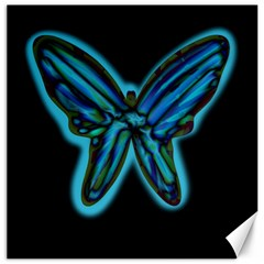 Blue butterfly Canvas 20  x 20