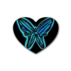 Blue butterfly Heart Coaster (4 pack)