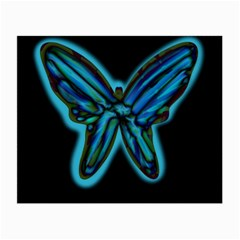 Blue butterfly Small Glasses Cloth (2-Side)
