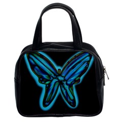 Blue butterfly Classic Handbags (2 Sides)