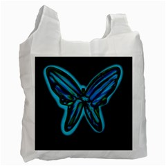 Blue butterfly Recycle Bag (One Side)