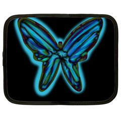 Blue butterfly Netbook Case (XL)