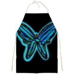 Blue butterfly Full Print Aprons