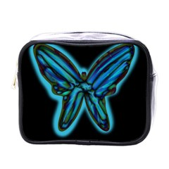 Blue butterfly Mini Toiletries Bags