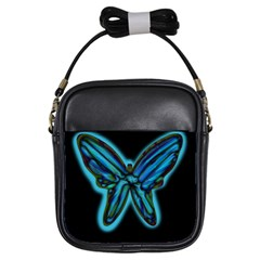 Blue butterfly Girls Sling Bags