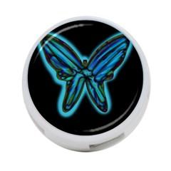 Blue butterfly 4-Port USB Hub (One Side)