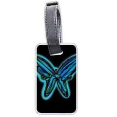 Blue butterfly Luggage Tags (One Side)