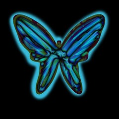Blue butterfly Magic Photo Cubes