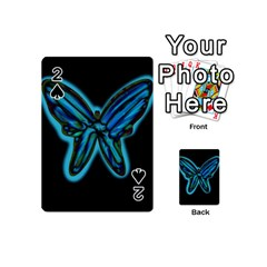 Blue butterfly Playing Cards 54 (Mini)