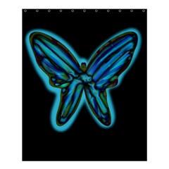 Blue butterfly Shower Curtain 60  x 72  (Medium)