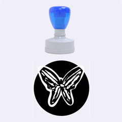 Blue butterfly Rubber Round Stamps (Medium)