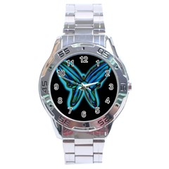 Blue butterfly Stainless Steel Analogue Watch