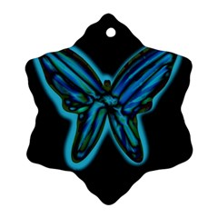 Blue butterfly Snowflake Ornament (2-Side)