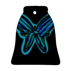 Blue butterfly Bell Ornament (2 Sides)