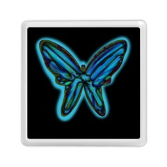 Blue butterfly Memory Card Reader (Square)