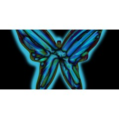 Blue butterfly YOU ARE INVITED 3D Greeting Card (8x4)